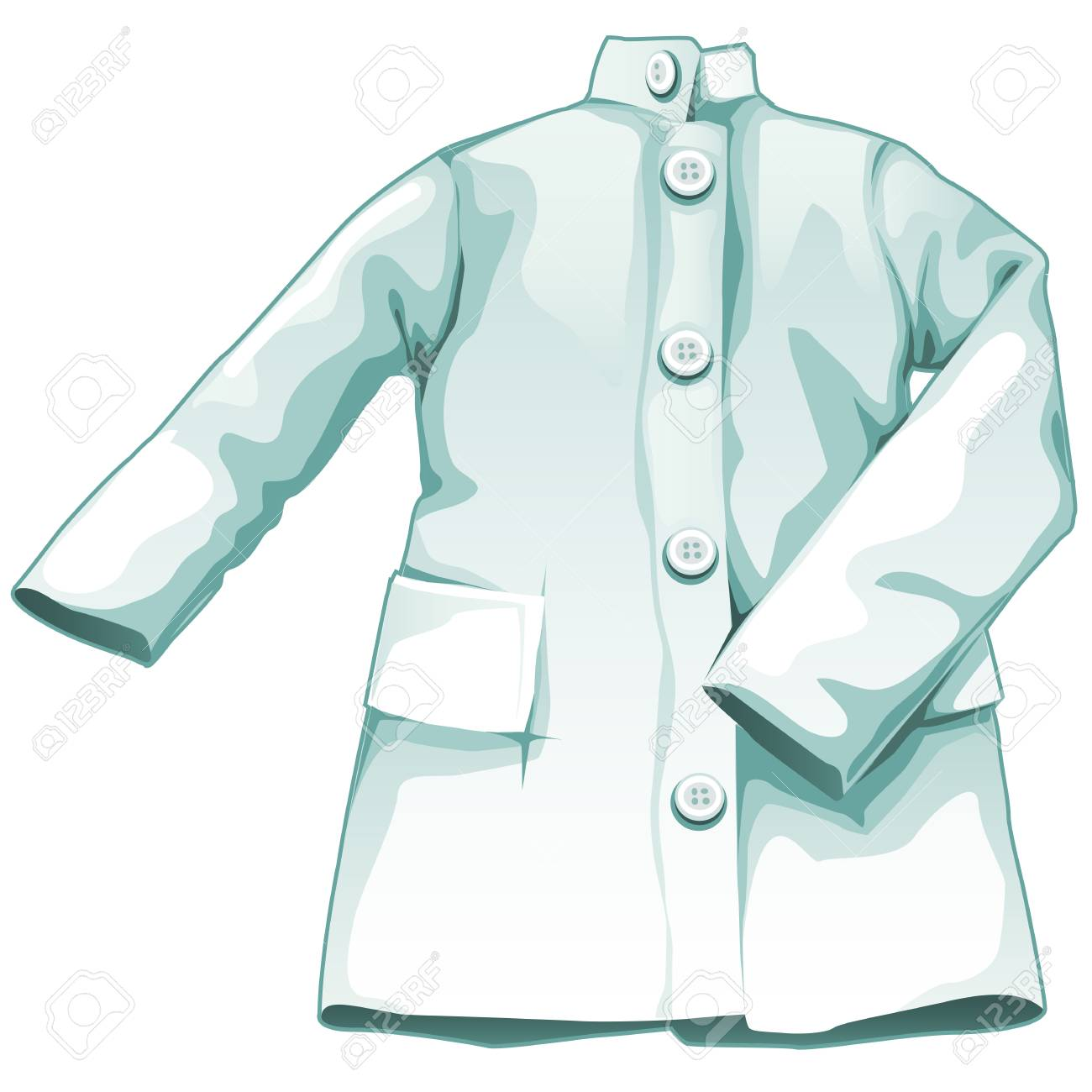 White Medical Gown, Working Uniform Medical Royalty Free Cliparts ...