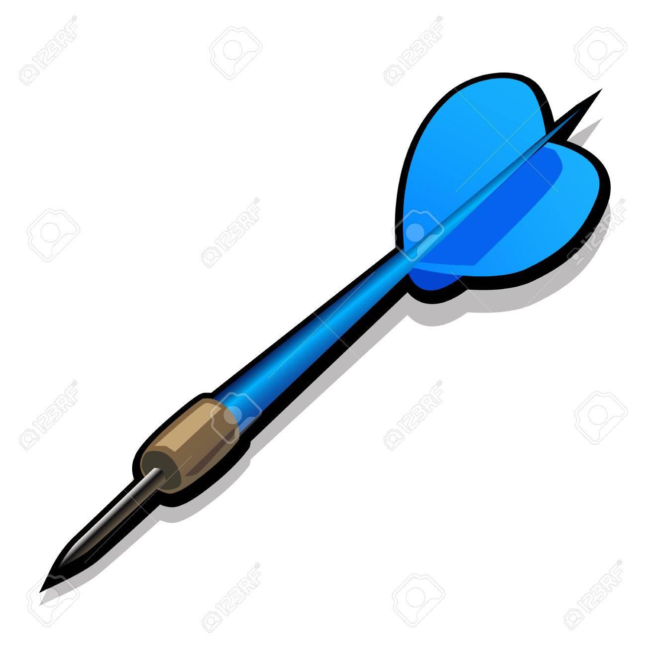 Flechette fléchette bleue pour les fléchettes. icône de vecteur agrandi sur