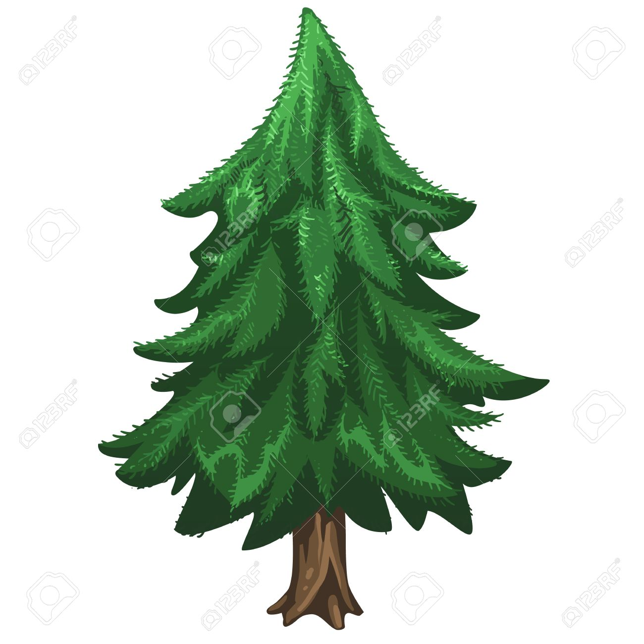 Christmas Trees Without Ornaments coniferous pine tree without ornaments, christmas symbol. vector