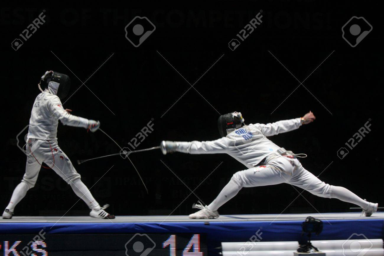 World Cadet and Junior Fencing Championships Moscow 2012 Stock Photo - 13062325