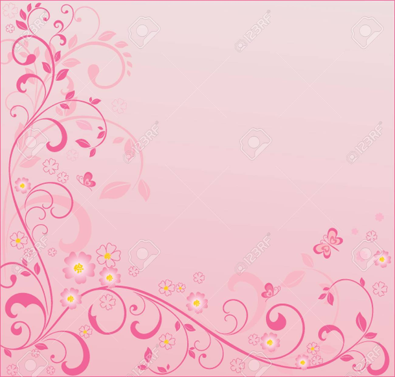 Pink Floral Background See My Gallery For More Royalty Free