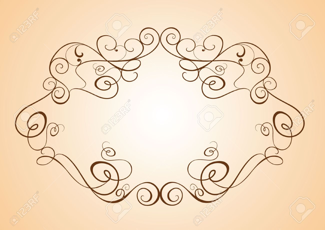 Vintage Wedding Frame Royalty Free Cliparts, Vectors, And Stock ...