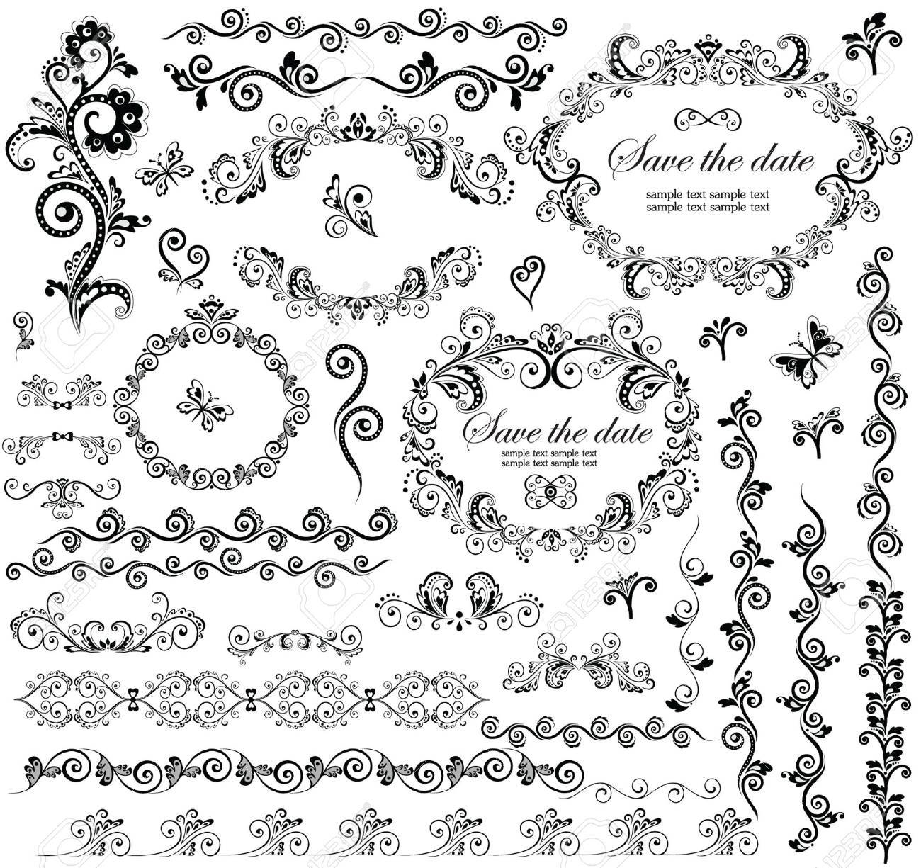 Decorative wedding frames royalty free cliparts vectors and stock decorative wedding frames stock vector 18760950 junglespirit Images