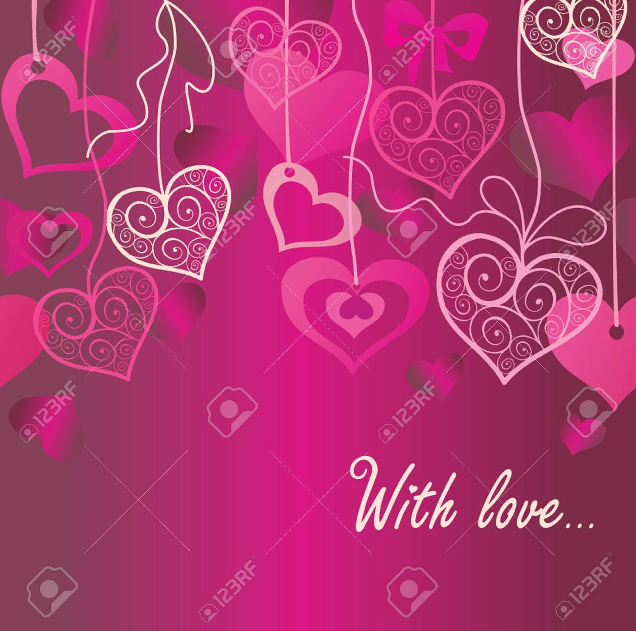 Seamless Valentine background Stock Vector - 18760849