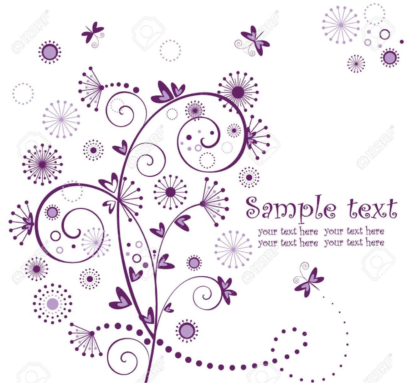 Valentine violet card Stock Vector - 18838254