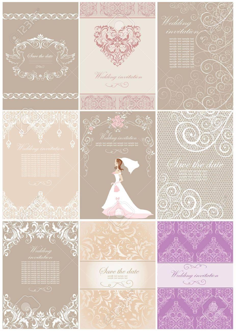 Wedding invitations Stock Vector - 18838392
