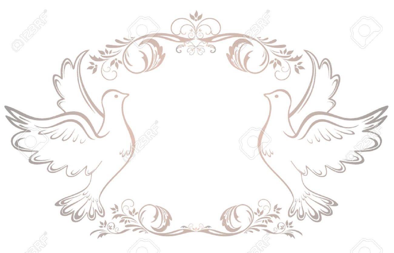 vector wedding vintage frame