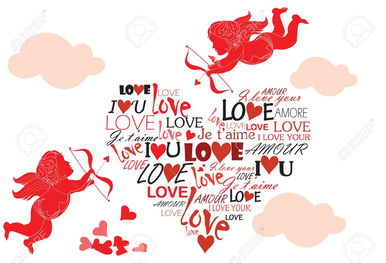 Valentine card Stock Vector - 18858770