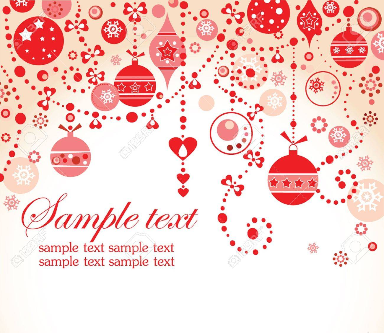 Christmas red greeting card Stock Vector - 18894203