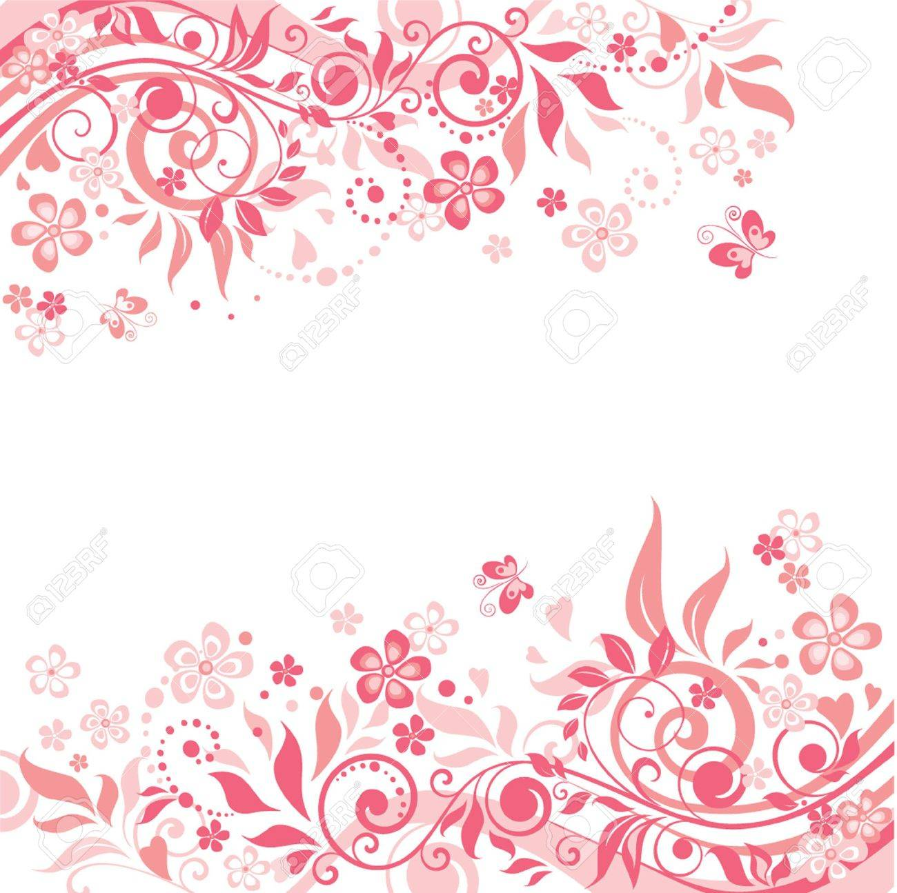 Pink Floral Background Royalty Free Cliparts Vectors And Stock