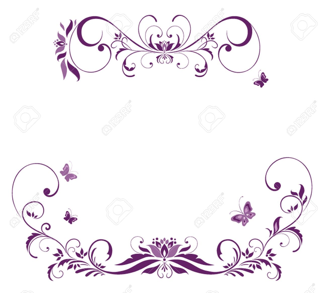 purple elegant borders - photo #9