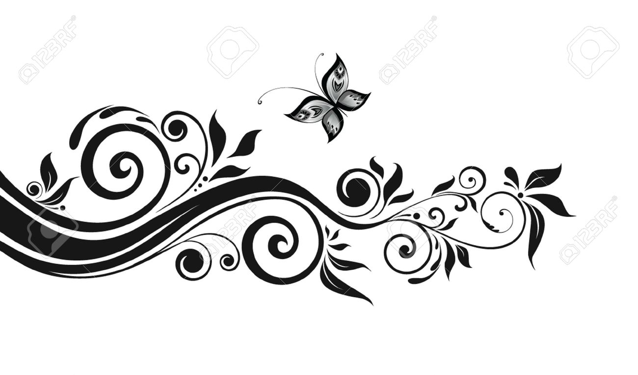 Floral Black Border Royalty Free Cliparts Vectors And Stock