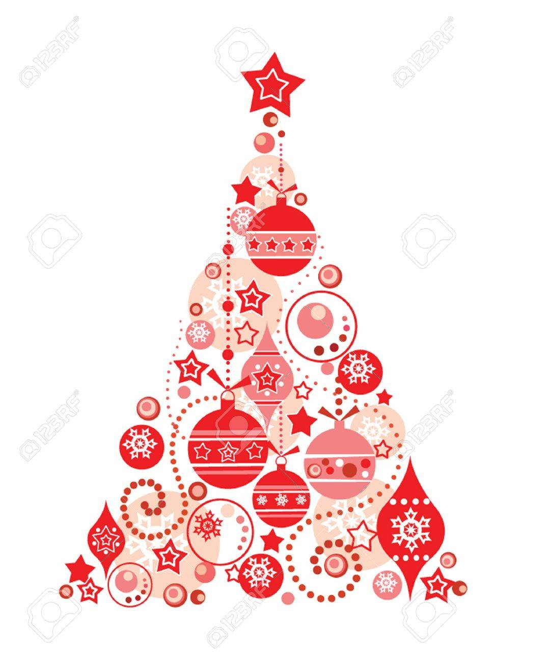 Red Christmas Tree Royalty Free Cliparts Vectors And Stock Illustration Image 18972561