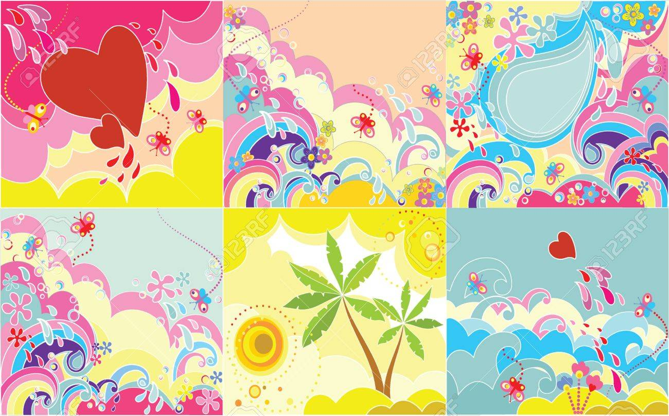 Set of holiday backgrounds Stock Vector - 18972901