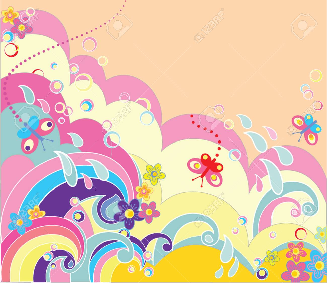 Funny background Stock Vector - 19002957