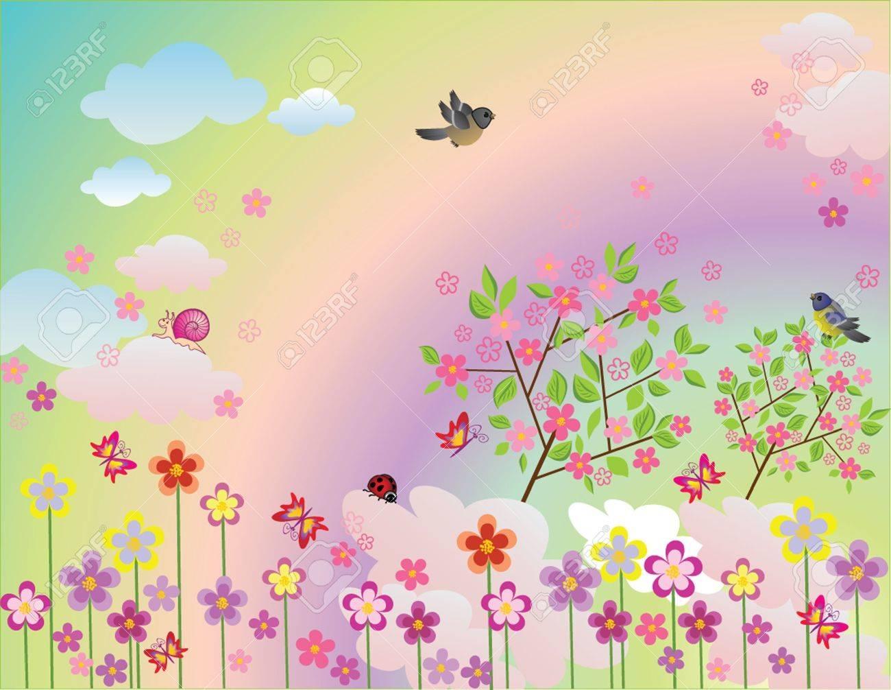 春イラストのイラスト素材ベクタ Image 19024237
