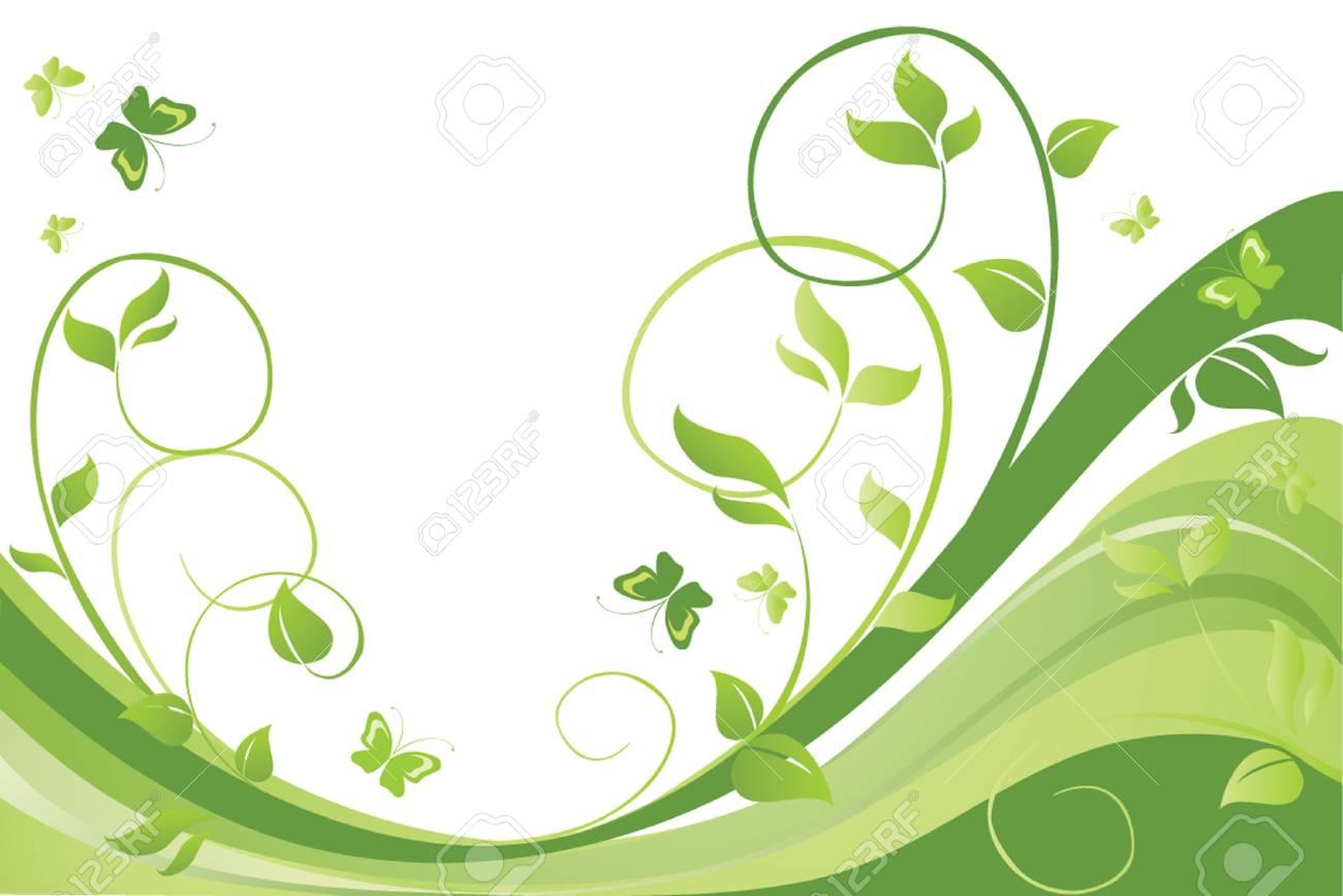 Green spring card Stock Vector - 19034734