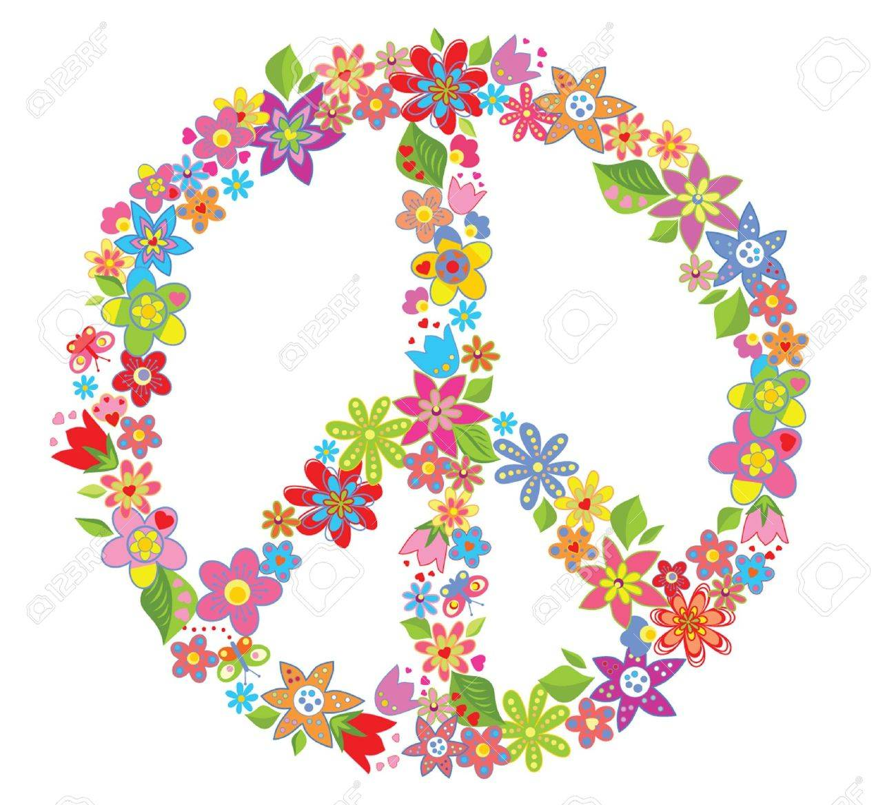 Peace Flower Symbol Royalty Free Cliparts Vectors And Stock
