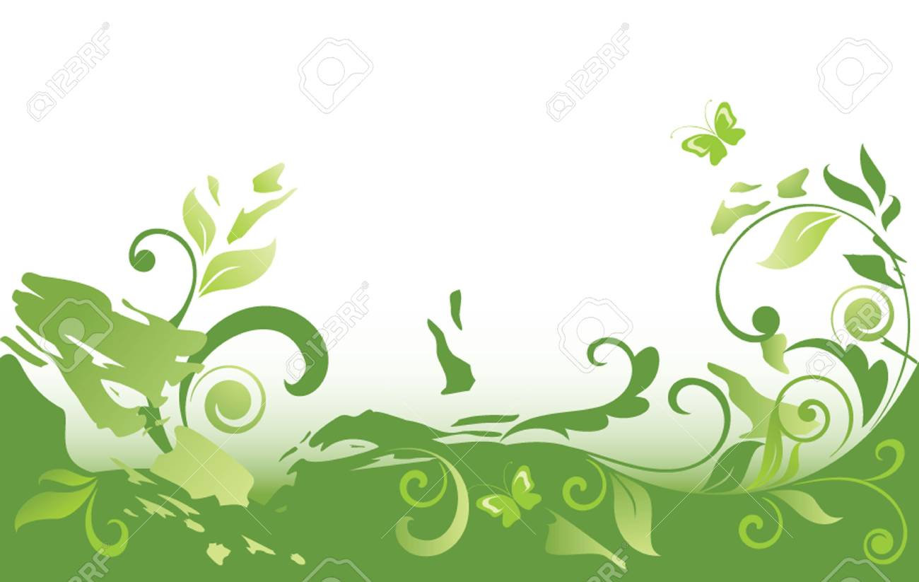 Grunge green background Stock Vector - 19034659