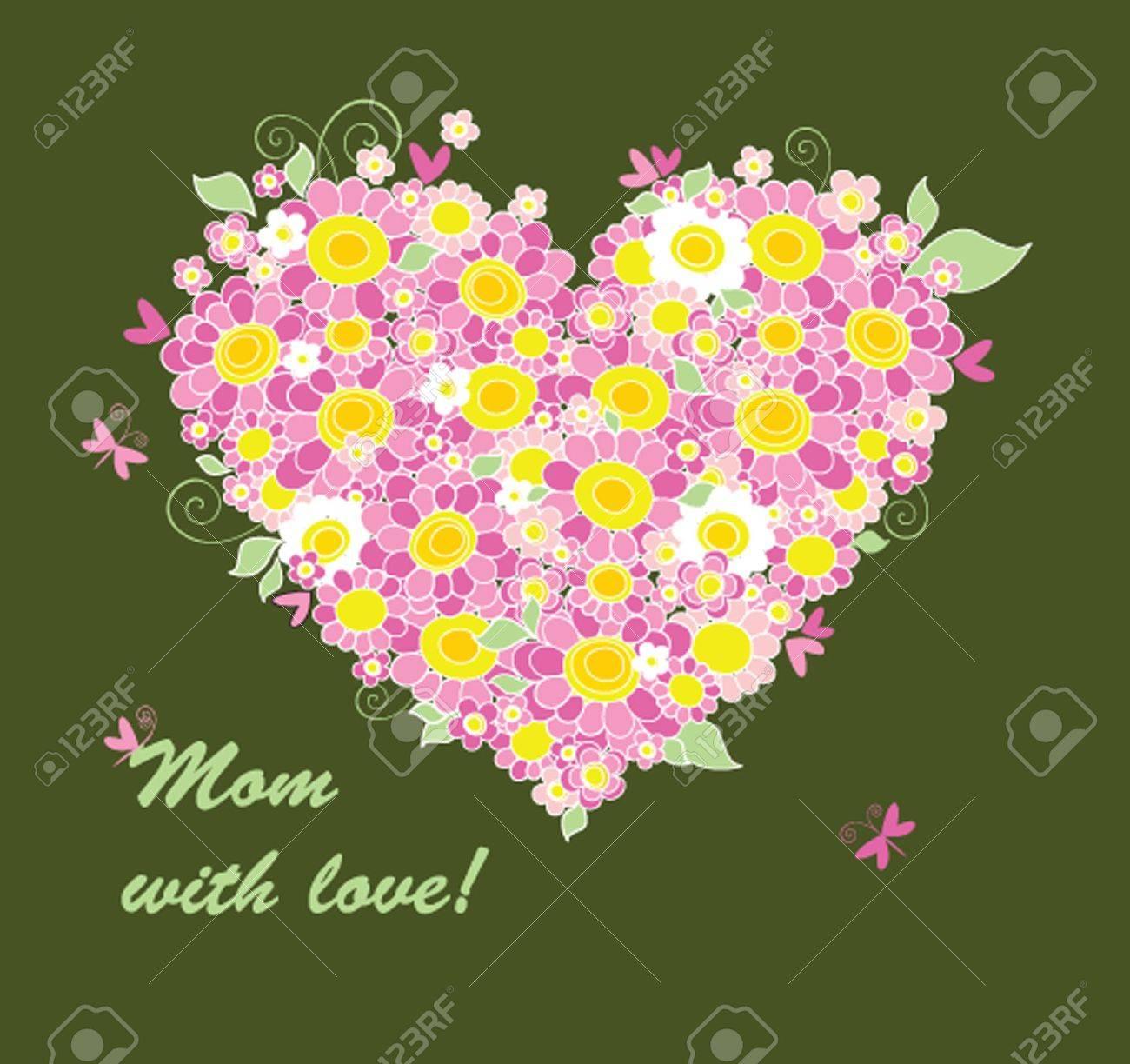 Mother's Day congratulation card Stock Vector - 19371855
