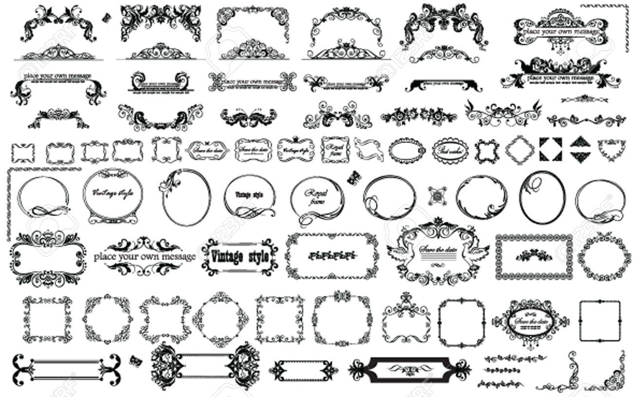 Vintage frames and heading for design - 23754754