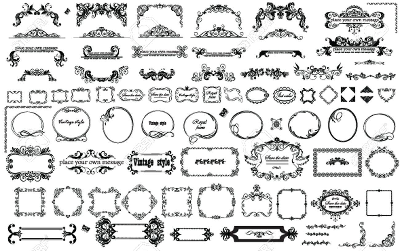 Vintage Frames And Heading For Design Royalty Free Cliparts, Vectors ...