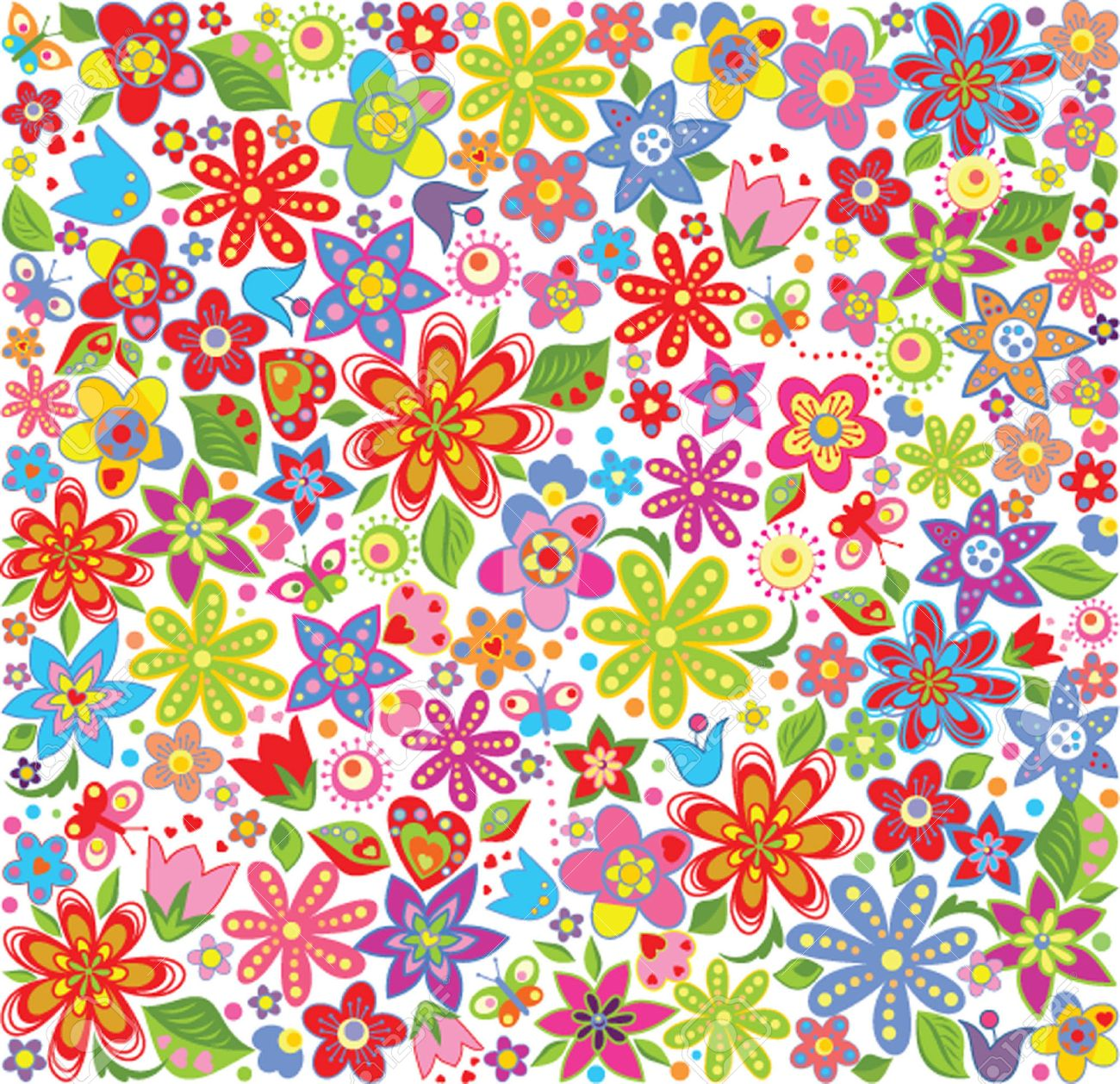 Spring Floral Wallpaper Royalty Free Cliparts Vectors And Stock