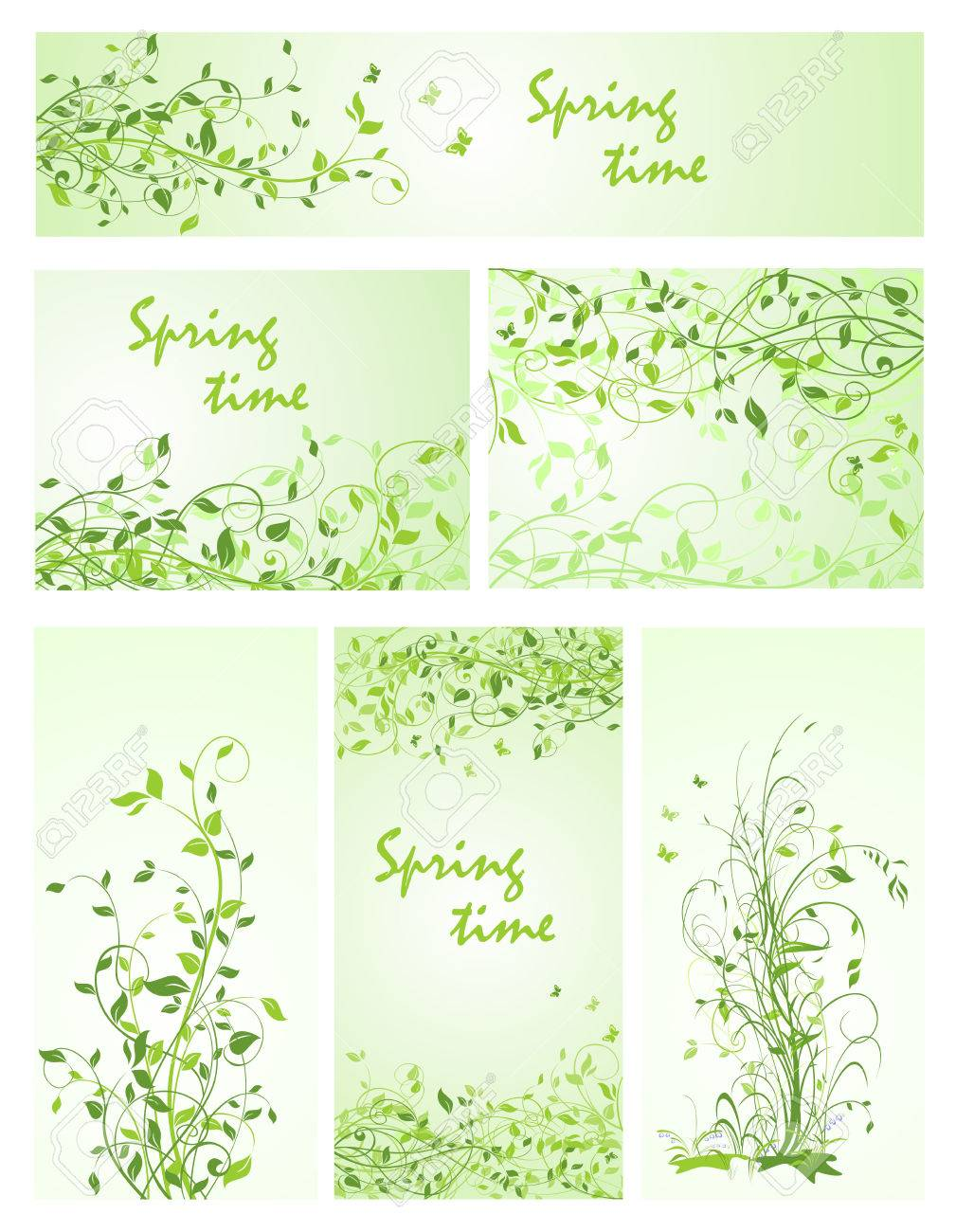 beautiful floral backgrounds for spring design royalty free cliparts
