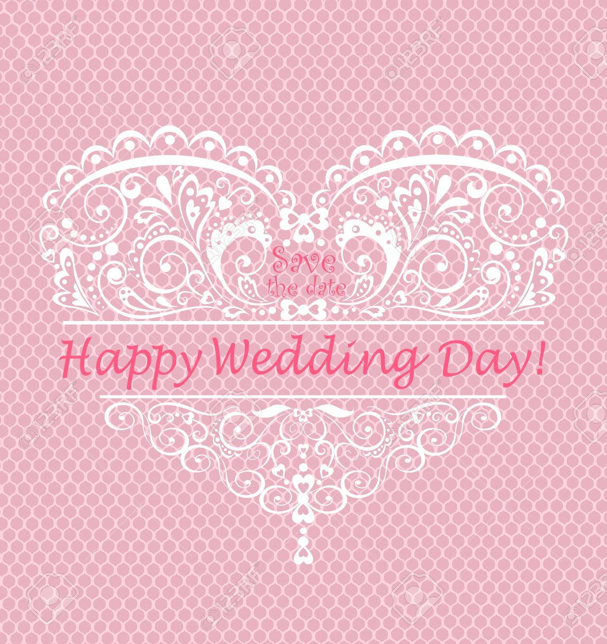 Beautiful Greeting For Wedding Day Royalty Free Cliparts Vectors