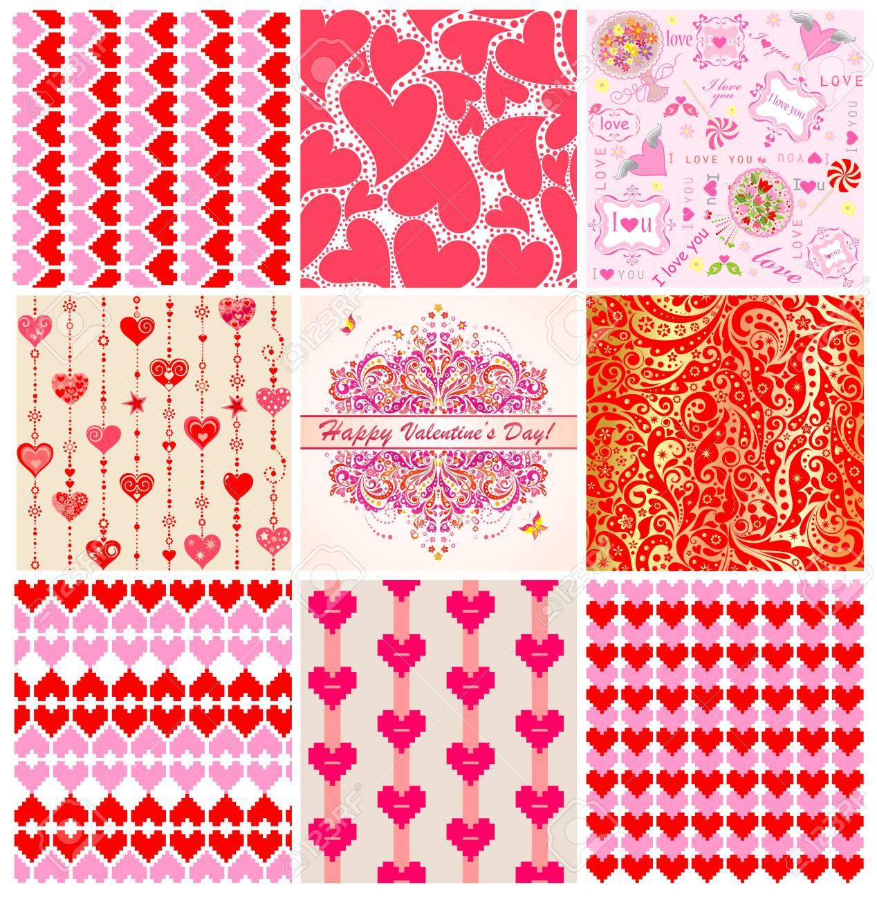 Sammlung Von Hintergrundbilder Fur Den Valentinstag Lizenzfrei