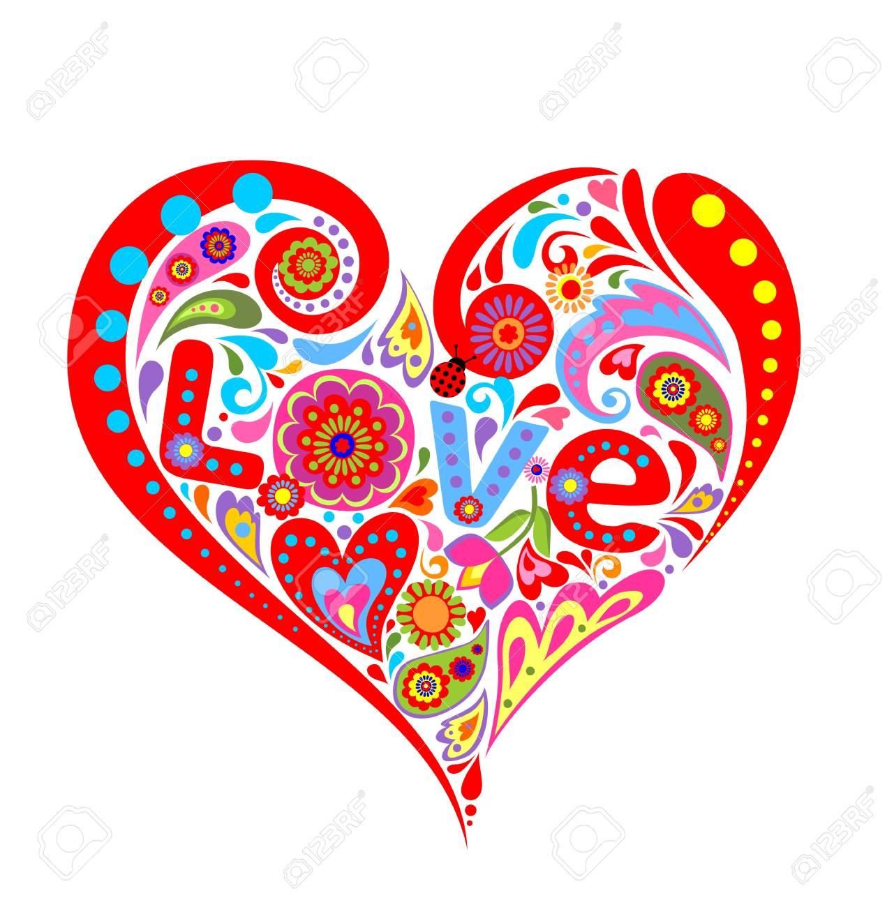 Imprimir Con El Corazón Para El Día De San Valentín Ilustraciones