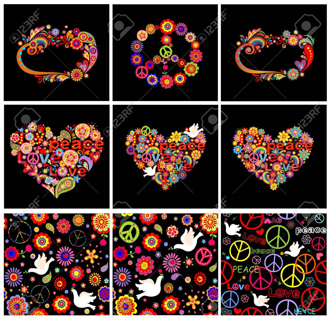 Text symbols hippie images for tatouage text symbols hippie regarding set of hippie wallpapers frames heart shapes and peace symbol biocorpaavc Images