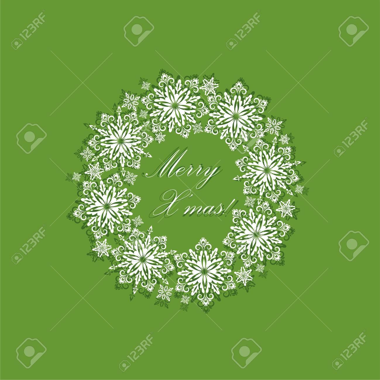 Gruß Grüne Weihnachtskarte Mit Papier Ausgeschnitten Dekorativen