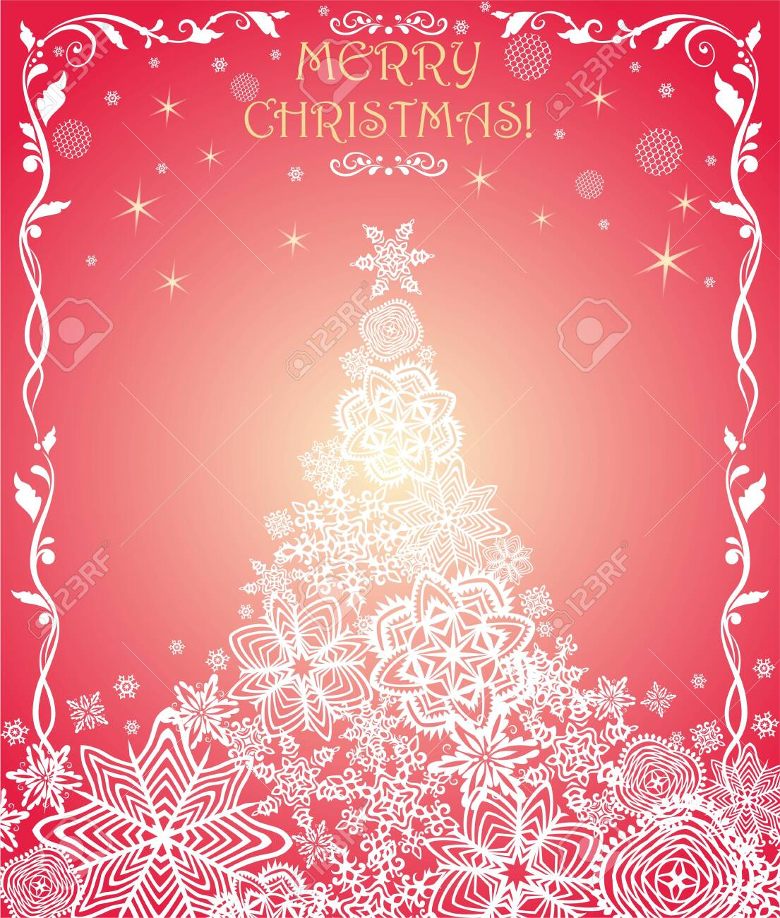 beautiful greeting christmas card for winter holidays with golden royalty free cliparts vectors and stock illustration image 145461825 123rf com