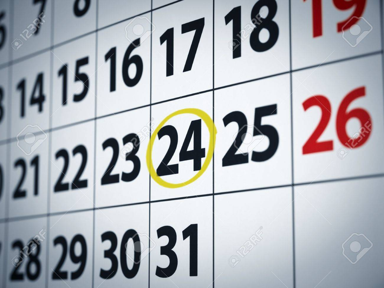 Calendar Date Circled Circle Calendar Date a Date