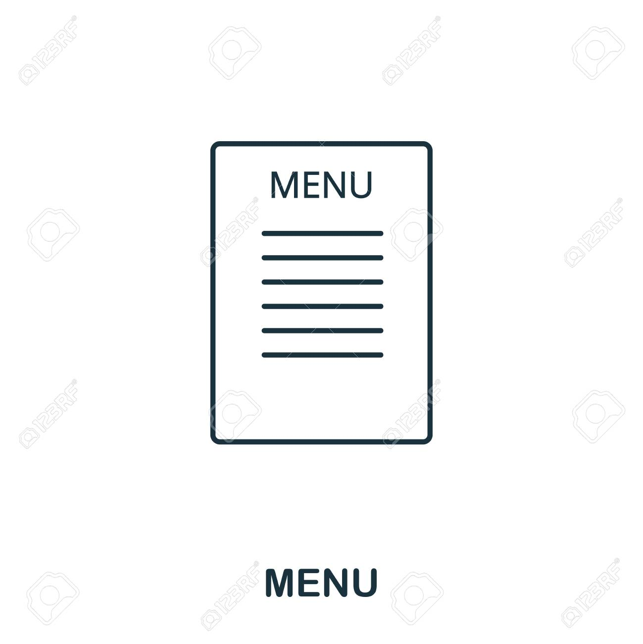 menu icon outline style icon design ui illustration of menu icon