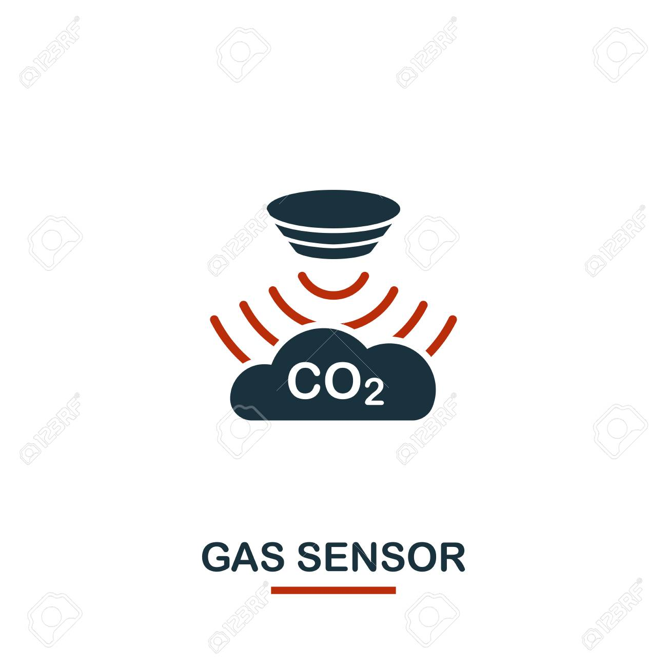Gas Sensor icon from sensors icons collection  Creative two colors