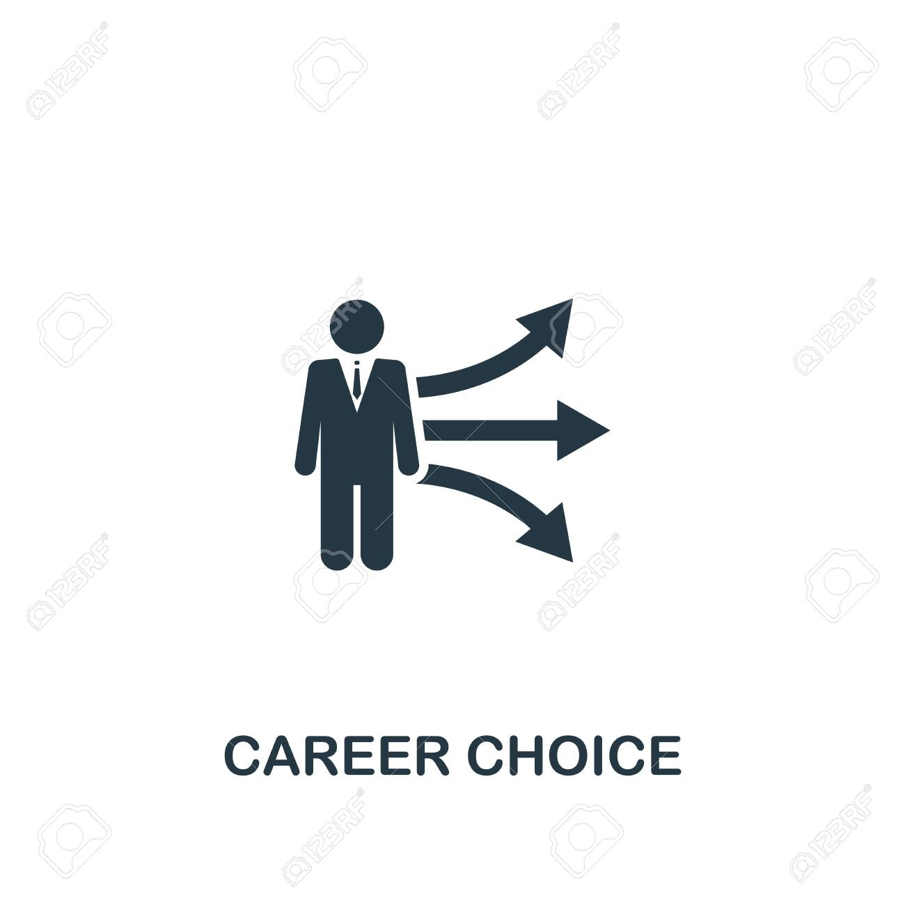 Career Choice Icon Creative Element Design From Productivity Royalty Free Cliparts Vectors And Stock Illustration Image 123884946