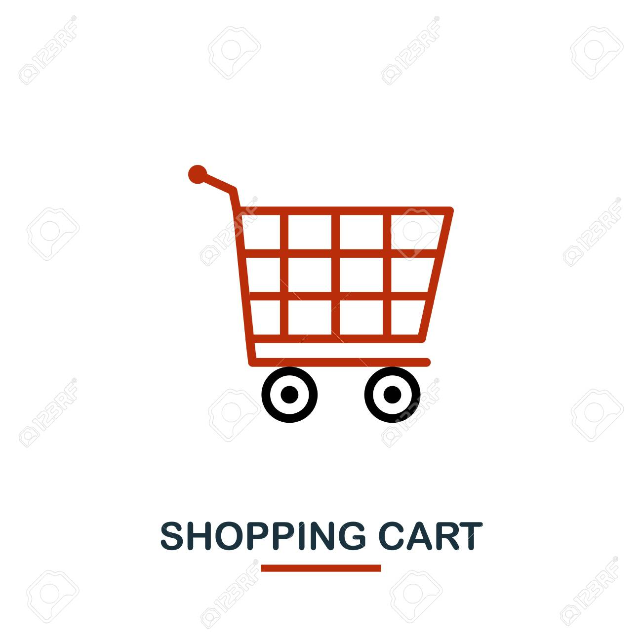 Shopping Cart Icon In Two Colors Creative Black And Red Design Stock Photo Picture And Royalty Free Image Image 122501166