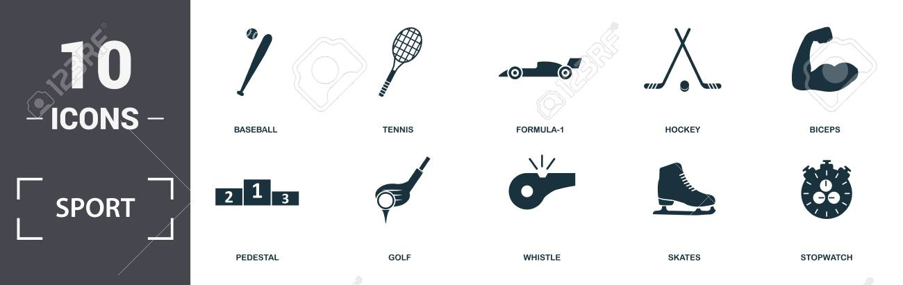 Sport Equipment icons set collection  Includes simple elements