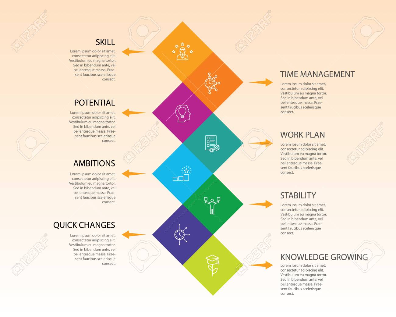 Productivity Infographics Design Timeline Concept Include Skill Stock Photo Picture And Royalty Free Image Image 135674851