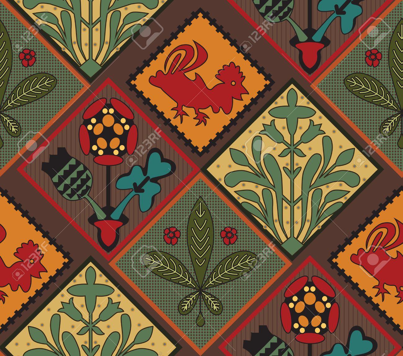 Italienisch Contry Fliesen Muster Medieval Pattern Bunte Fliesen