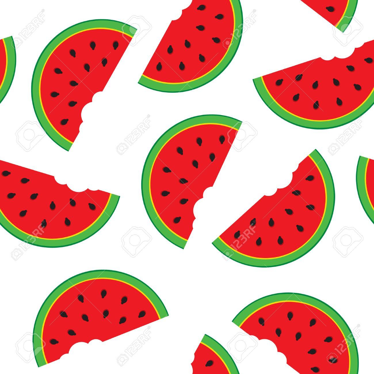 Cute Watermelon Clipart seamless watermelon  Seamless