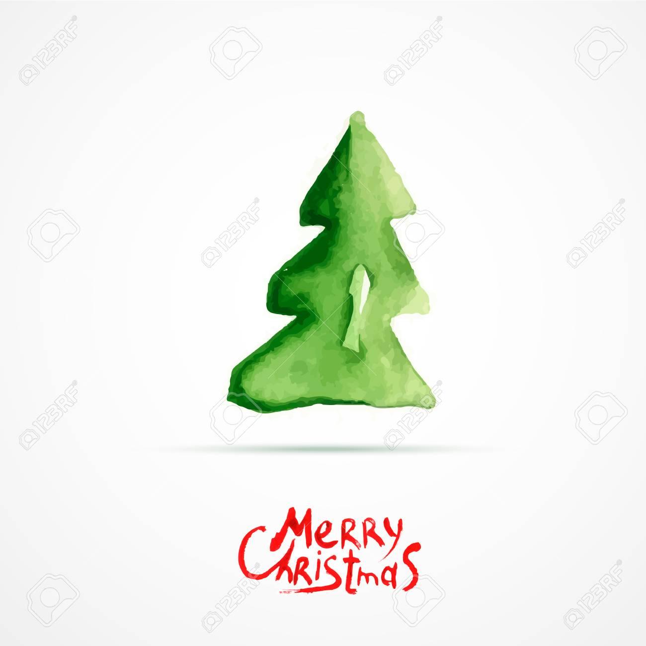 Weihnachtsbaum Gezeichnet.Stock Photo