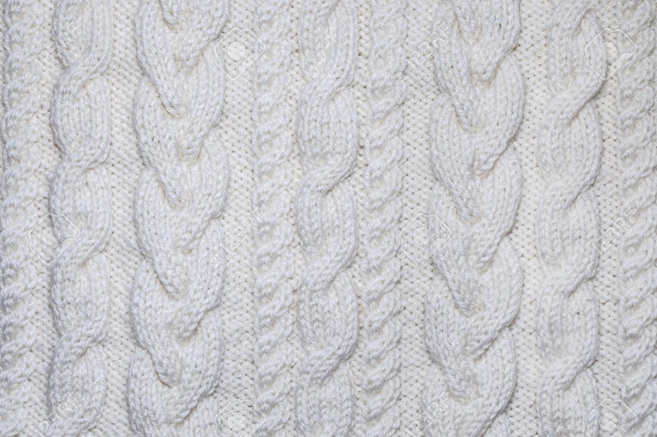 Textura Que Hace Punto Blanca Con El Modelo De Aran, Fondo Fotos ...