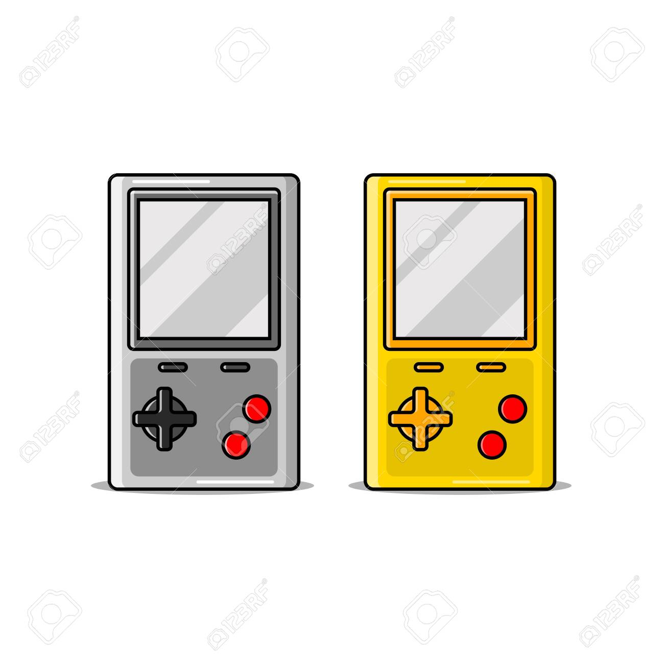 vector illustration of a portable game console - 144441916