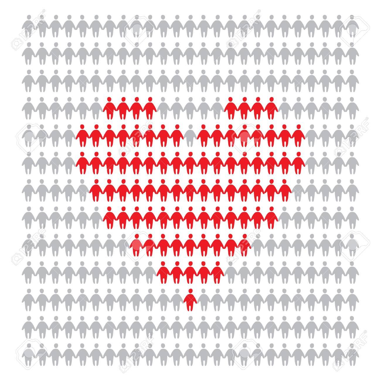 symbol of human love Stock Vector - 9231484