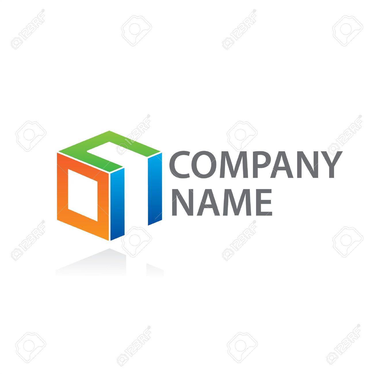 Template to mark the company. Put your company name rather than text. Stock Vector - 9458039
