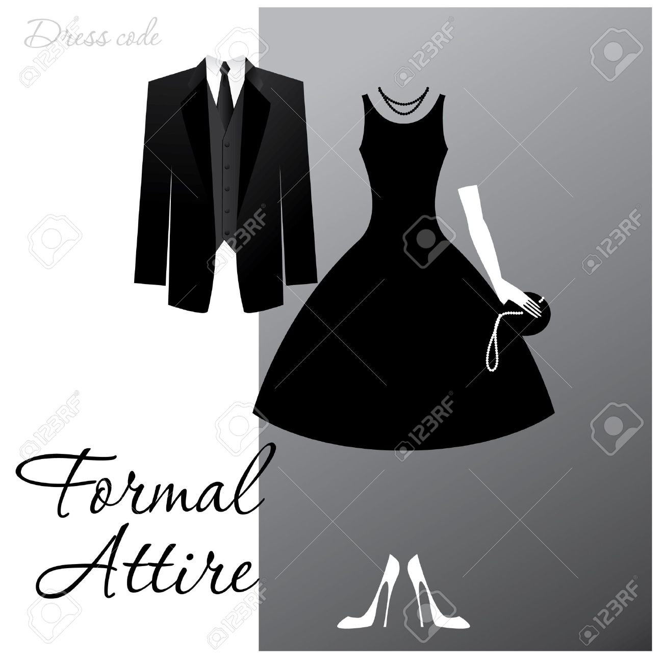 Dress Code - Formal Attire. The Man - A Black Tuxedo, A Dark ...