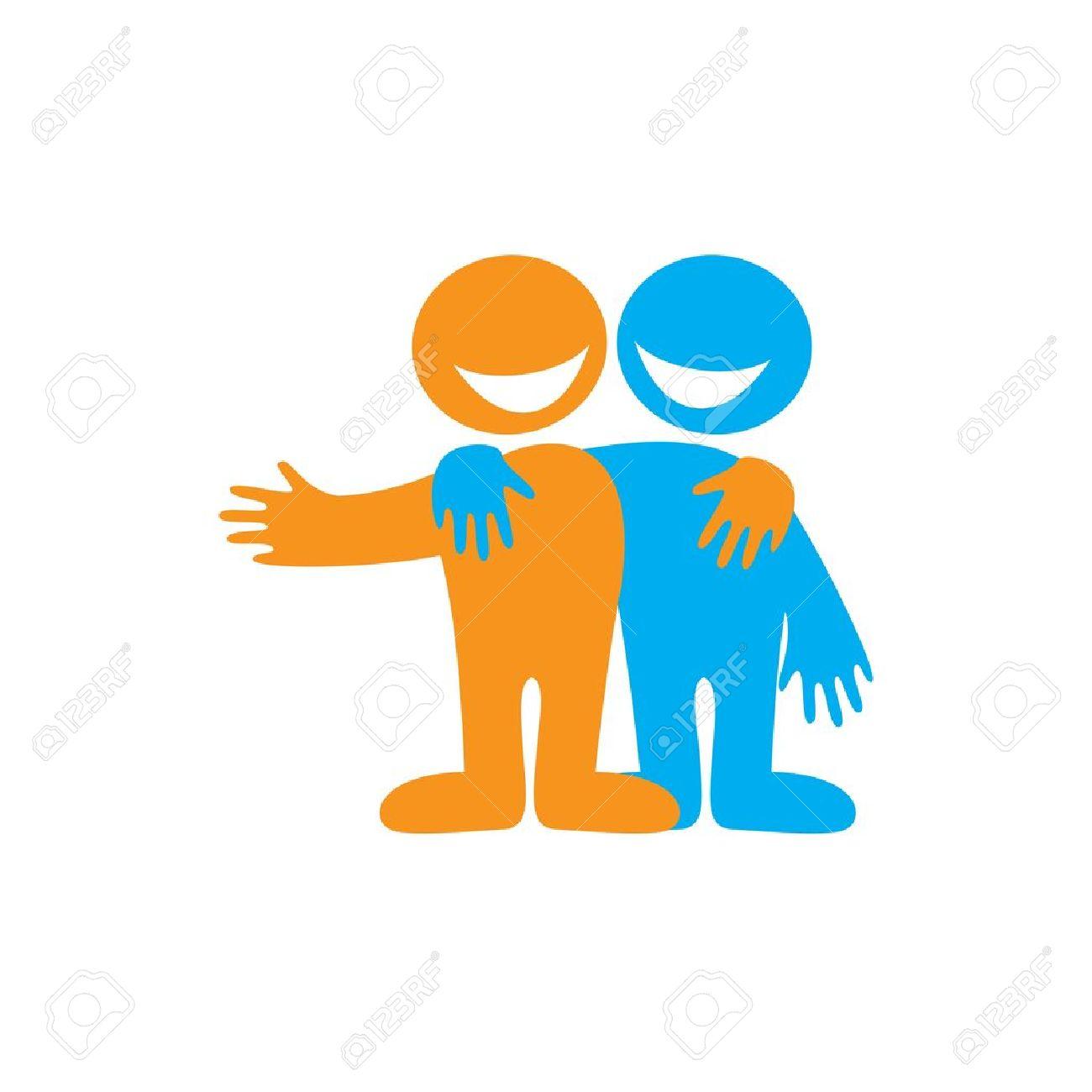 Relativ Symbole De L'amitié. Amis Heureux Icône. Vecteur Signe. Clip Art  UB71